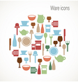 Ware icons vector