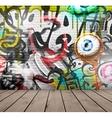 Graffiti on wall vector