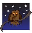 An owl on a branch vector