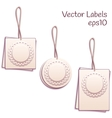 Set of paper tags vector