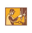Factory worker operator vector