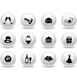 Web buttons wedding icons vector