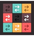 Beautiful pure arrow sign icon set vector