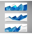 Abstract background polygon blue vector