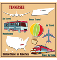 Flat map of tennessee vector