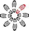 Footprintscircle vector