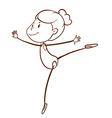 A plain sketch of a gymnast vector
