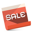 Sale - red paper vector