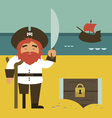 Pirate with chest vector