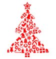 Ornament christmas tree isolated on white vector