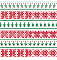 Christmas nordic seamless pattern with people vector