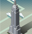 Isometric empire state building vector