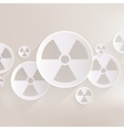 Radiation danger icon vector
