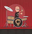 Live band boy cartoon character vector