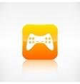 Joystick web icon application button vector