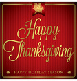 Typographic elegant thanksgiving card in format vector