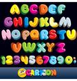 Funny comics font vector