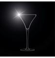 Martini glass cocktail vector