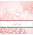 Classic elegant floral card or ornament invitation vector