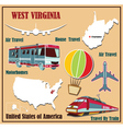 Flat map of west virginia vector
