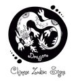 Dragon chinese zodiac sign vector
