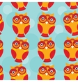 Cute seamless pattern with owl on a blue vector