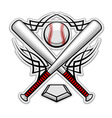 Baseball emblem for sports design or mascot vector