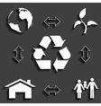 Eco concept 2 vector
