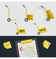 Flat icons for delivery of goods vector
