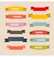 Retro ribbons labels tags set vector