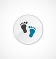 Footprints icon 2 colored vector