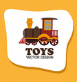 Toys design over yellow background vector