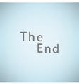 The end grunge background vector