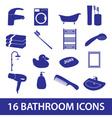 Bathroom icons set eps10 vector
