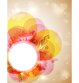 Abstract butterfly banner vector