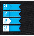 Leather blue color design template vector