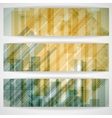 Abstract yellow rectangle shapes banner vector