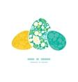 Emerald flowerals three matching easter egg vector