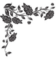 Victorian scroll floral vector