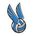 Volleyball ball with wings vector