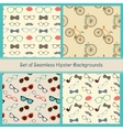 Hipster colorful seamless patterns vector