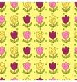 Cute tulips pattern vector