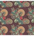 Ornate seamless flower paisley design background vector