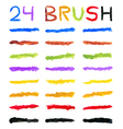 Brushes varied colors vector