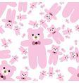 Teddy bear seamless pattern vector