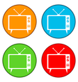 Tv button set vector
