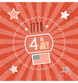Fourth july 1776 independence day red retro vector