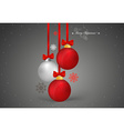 Christmas background with christmas ball vector