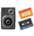 L speaker and audiocassette vector illustrat vector