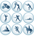 Olympic sport icons set vector